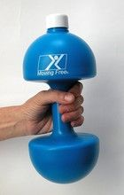 water hand-bell weights 3lbs when filled (can start less, build up)