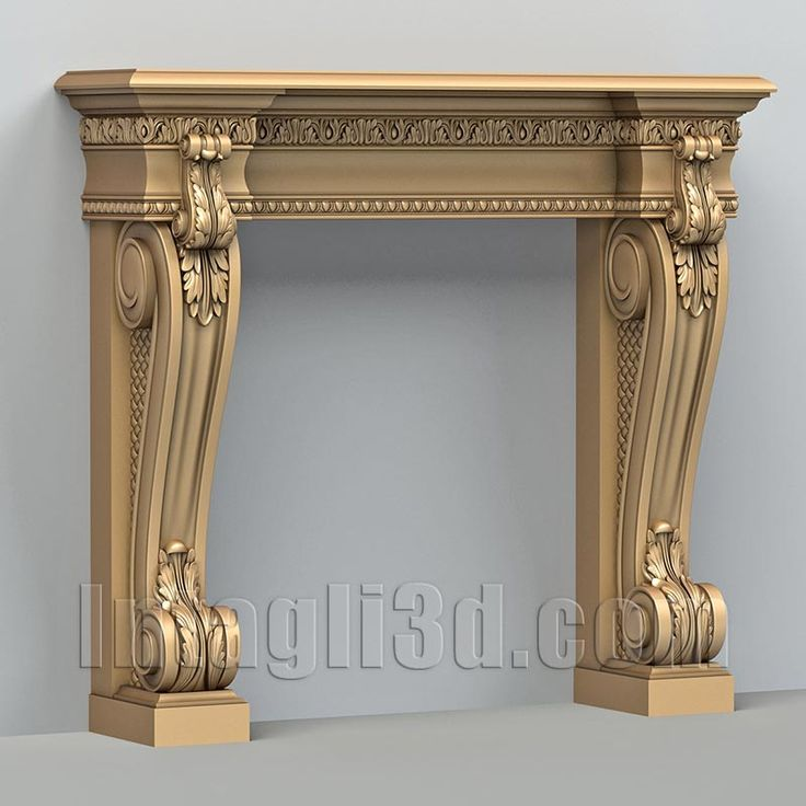 <b>3D</b> model for CNC routers and <b>3D</b> printers (art. Fireplace 001 ...
