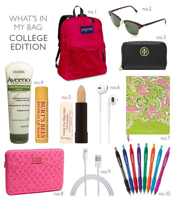 What's In My Bag: College Edition