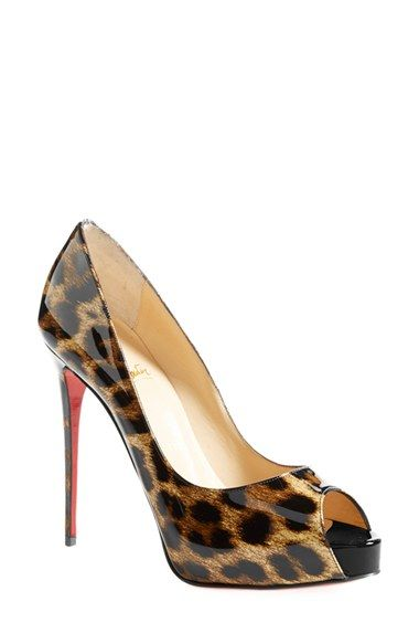 Christian Louboutin Decollette Tortoiseshell Red Sole Pump