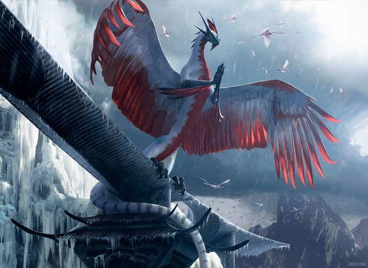 spirit rook inspiration (Dragonlord Ojutai by chasestone)