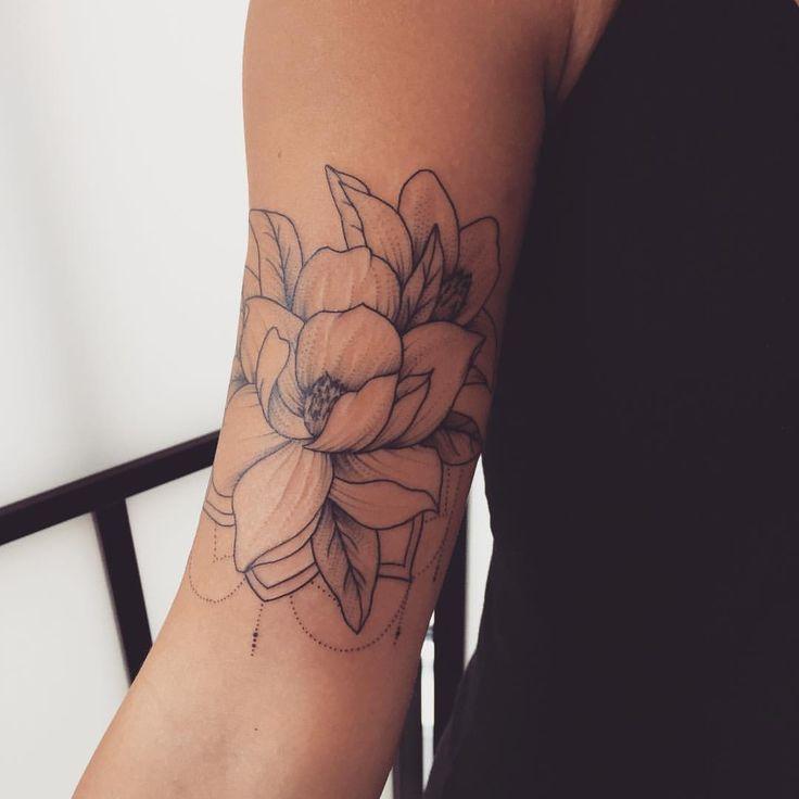 magnolia foot tattoo - photo #15