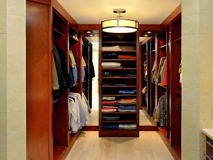 Captivating Interior, Small Walk In Closet Designs With Lighting Good Brown Color  Wooden Material Cool Brown Color Flooring Some Clothes Chandelier Circle  Shaped: The ...