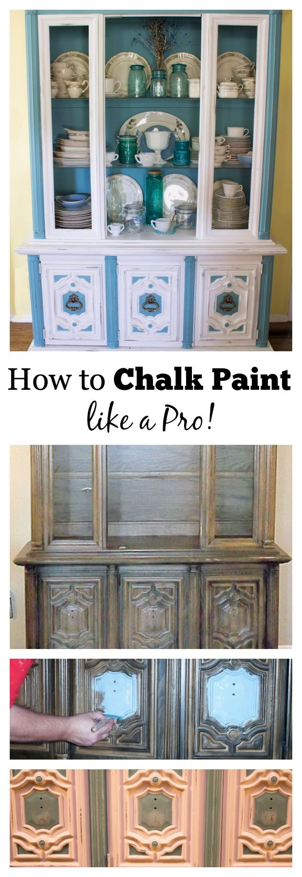 This detailed tutorial from a professional painter explains how to chalk paint furniture with tips that include brush selection, preparation and application, Marty's Musings shows how to turn an outdated piece of furniture into a beauty!