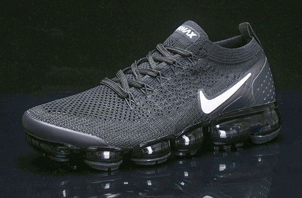 13beb61b95215 Best Quality Nike Air Vapormax Flyknit 2 Black White-Dark Grey Metallic  Silver