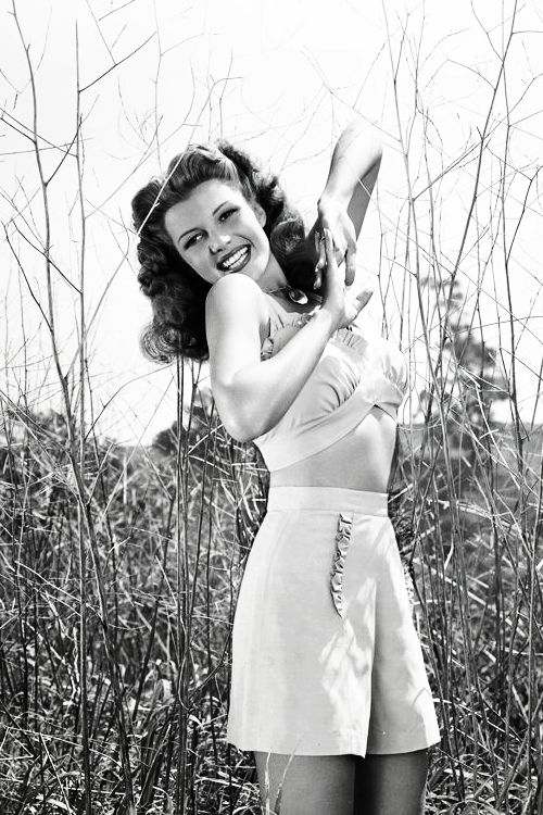 """Rita Hayworth (Margarita Carmen Cansino) October 17th 1918 - May 14th 1987 was an American dancer and film actress who achieved fame during the 1940s as one of the era's top stars. Appearing first as Rita Cansino, she agreed to change her name to Rita Hayworth and her natural dark brown hair color to dark red to attract a greater range of roles. """"""""I naturally am very shy ... and I suffer from an inferiority complex."""""""