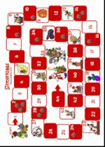 Ganzenbord Sint  - spelbord