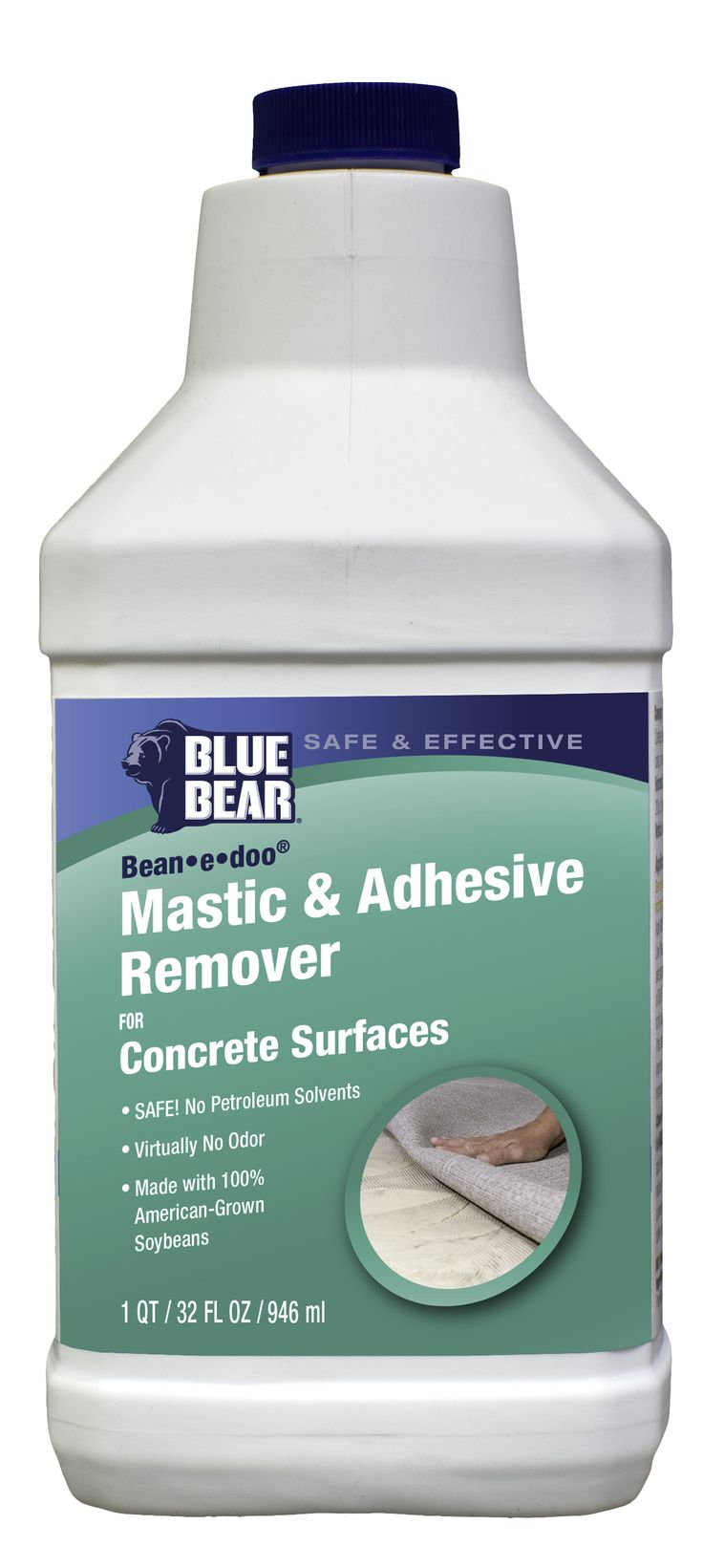 Blue Bear Bean E Doo® Mastic U0026 Adhesive Remover For Concrete Surfaces