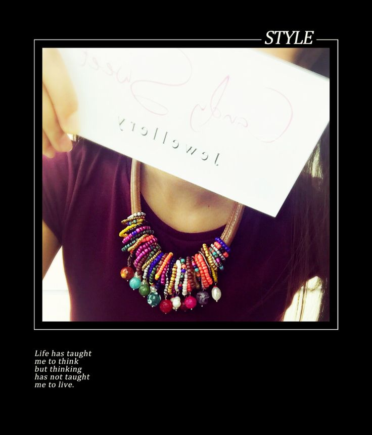 Necklace handmade winner