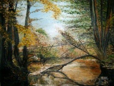 """Ive Vresan - """"Autumn"""" - 20''x24'' Landscape. Oil painting on canvas."""