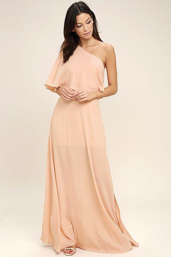 1 shoulder maxi dress old