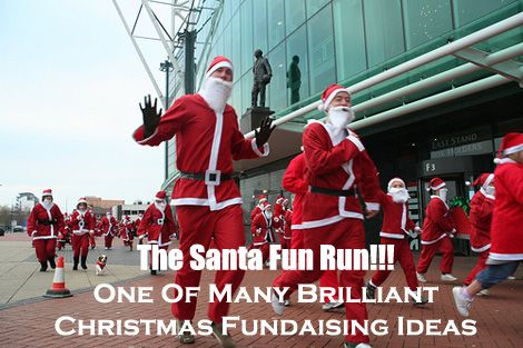 A Santa Fun Run is a super fun fundraising event for the Christmas Season, and can raise some superb funds. Find more fantastic Christmas Fundraising Ideas like it here...  www.rewarding-fundraising-ideas.com/christmas-fundraising-ideas.html  (Photo by Howard Lake / Flickr)