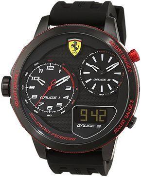 Scuderia Ferrari Orologi Red Rev 0830318 - Reloj de pulsera de caballero, analógico, mecanismo de cuarzo y silicona