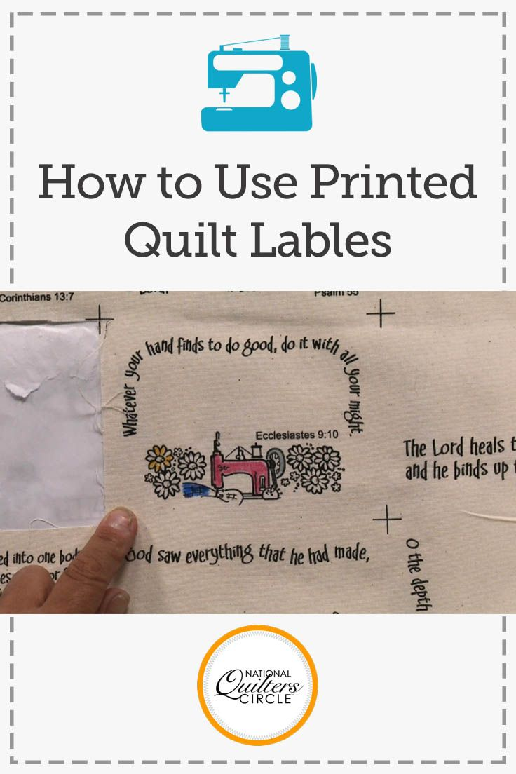Making A Creative Quilt Label