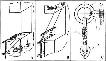 Примеры схем крепления лестницы в оконном проёме с помощью пары стенных анкеров