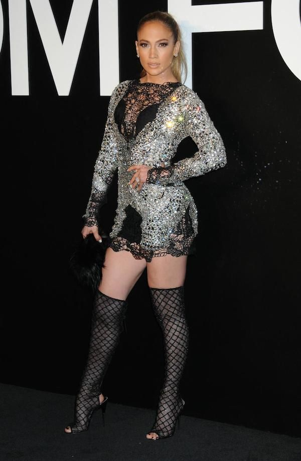 The heat is on! Triple threat diva Jennifer Lopez sizzled and sparkled on the black carpet of the Tom Ford Fall 2015Presentation Party sporting a Spring 2