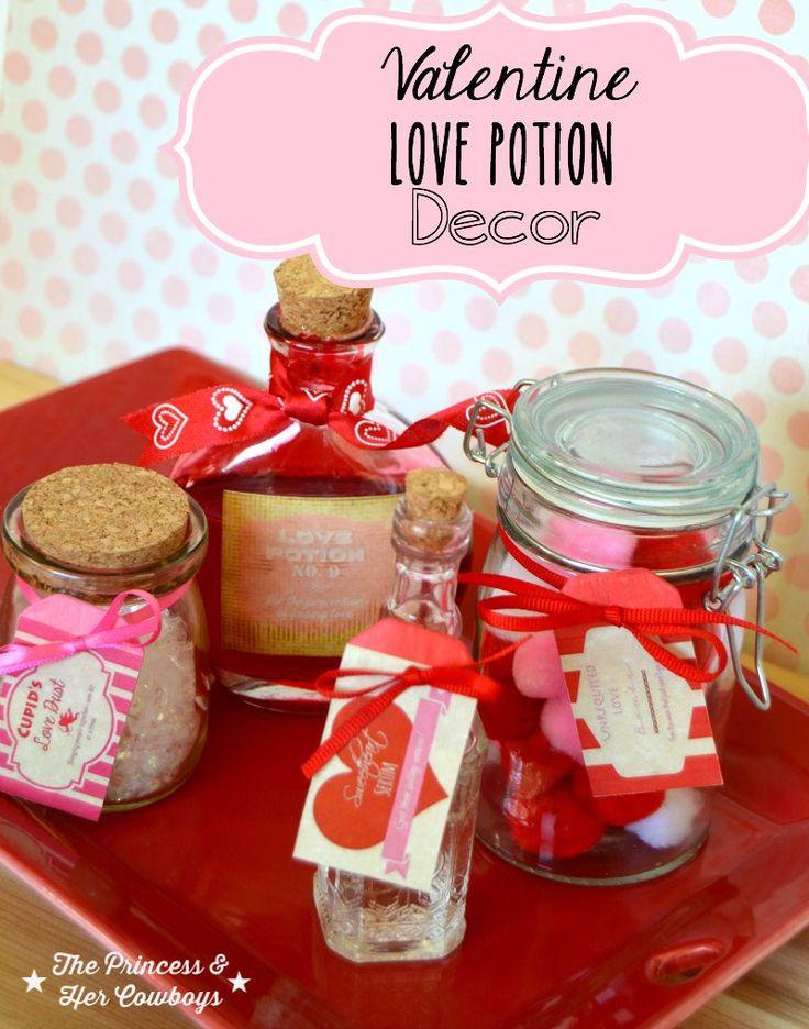 princesse potions | ... Love Potion Decor w/Free Printable - The Princess & Her Cowboys