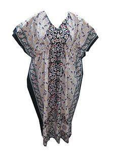 Women'S Sleepwear Black White Floral Printed Hippie Gypsy Evening Wear | eBay