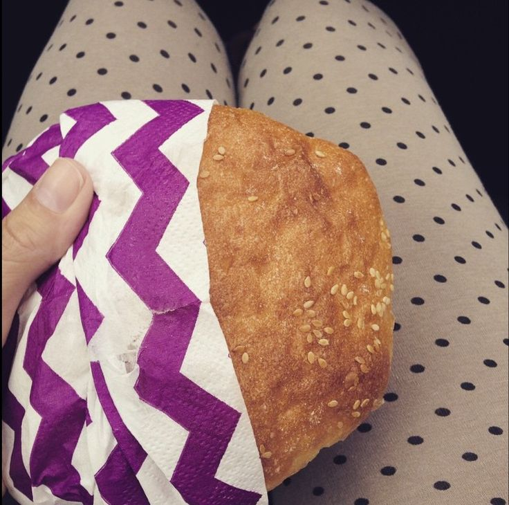Panino con salame. Sandwich  yummy!