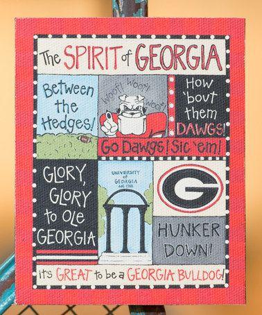Love this Georgia Bulldogs Spirit Magnet on #zulily! #zulilyfinds