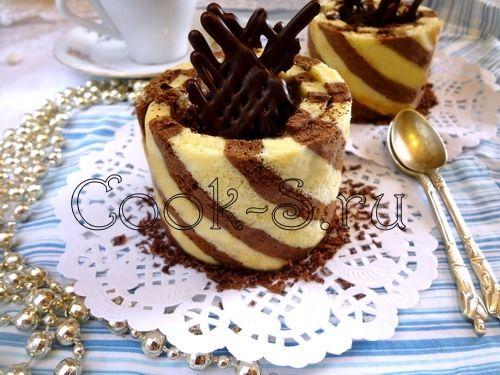полосатое пирожное