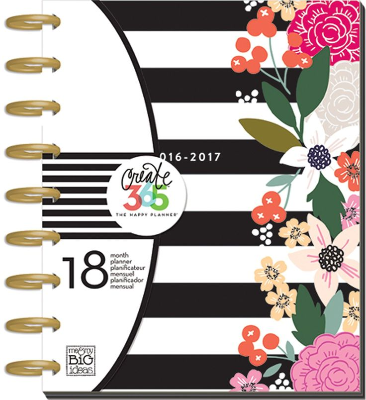 Me and My Big Ideas Create 365 18-Month Planner 7.75-inch x 9.75-inch-Botanical Garden