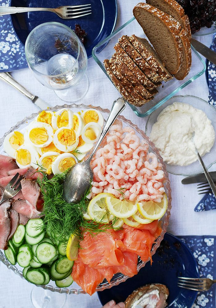 Midsummer or Summer Party! Platters! Party Trays! Mittsommer Party Rezept