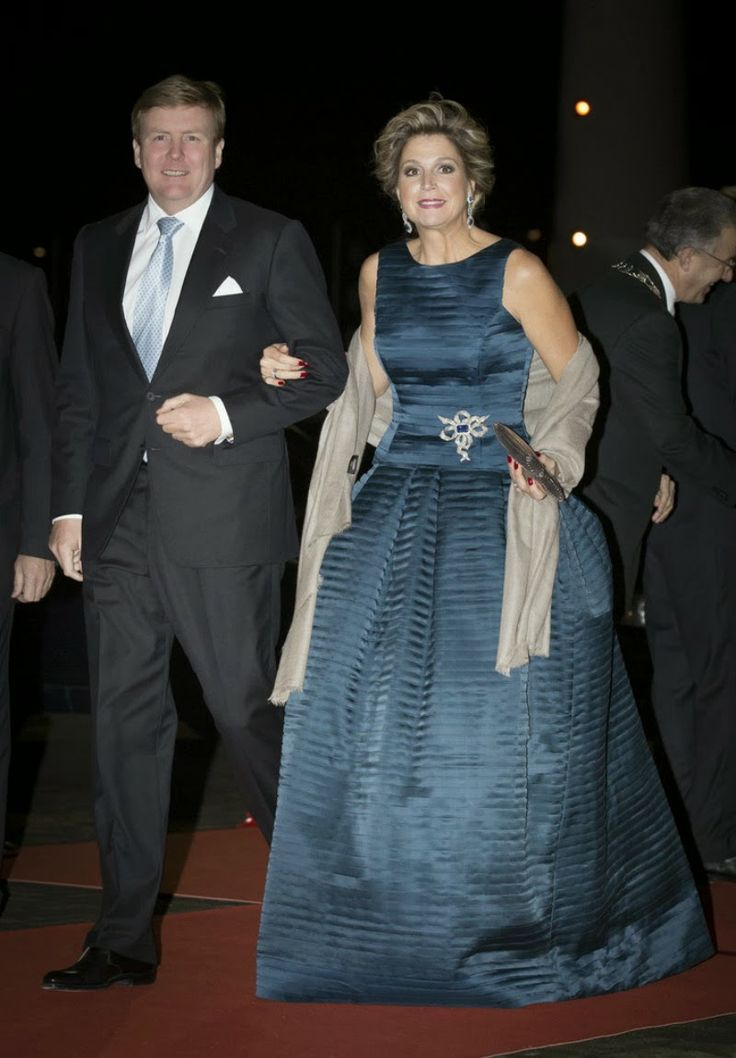 MYROYALS &HOLLYWOOD FASHİON: Dutch Royal Family attended a celebration of the reign of Princess Beatrix in Rotterdam, February 1, 2014-King Willem-Alexander and Queen Maxima