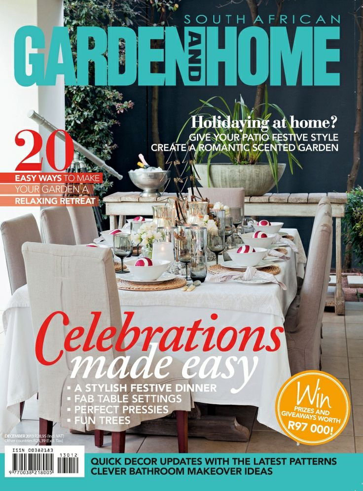 Look out for Operations Director Carla Herrmann-van der Merwe's home in the December issue of Garden and Home!