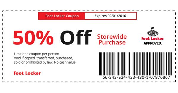 Kids foot locker in store coupons