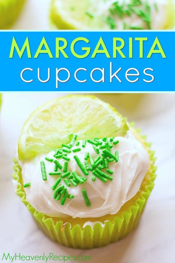 You will LOVE these delicious Margarita Cupcakes! They're lime- and tequila (optional)- infused cupcakes that are bursting with the fresh flavors of a Margarita. They're perfect Cinco de Mayo cupcakes! #margarita #margaritacupcakes #cincodemayo #cincodemayocupcakes via @heavenlyrecipe