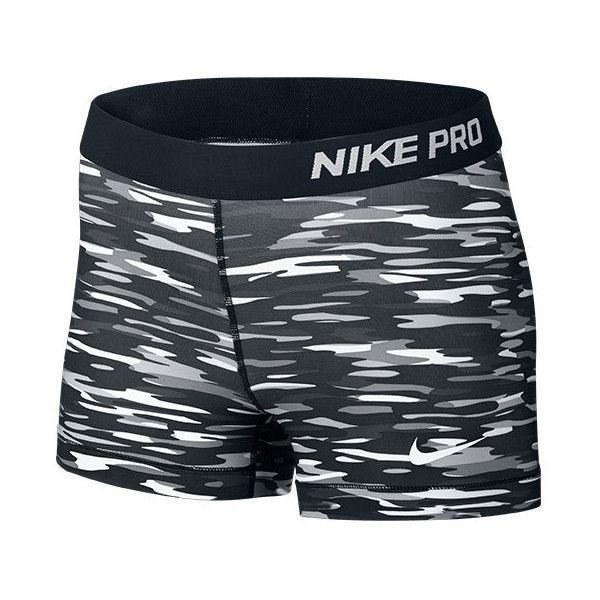 Nike Women's Pro Haze 3 Inch Shorts (£12) ❤ liked on Polyvore featuring activewear, activewear shorts, shorts, nike, sport, bottoms, spandex, grey, nike sportswear and nike activewear