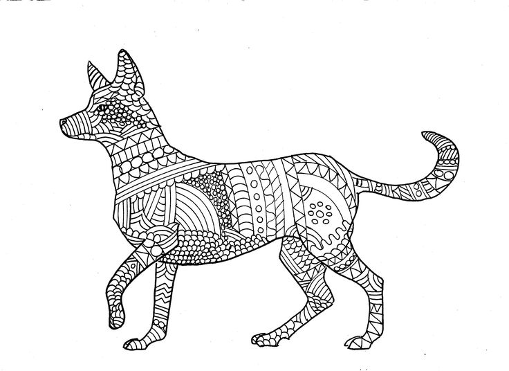 Dingo Colouring Page, digital download, digital product ...