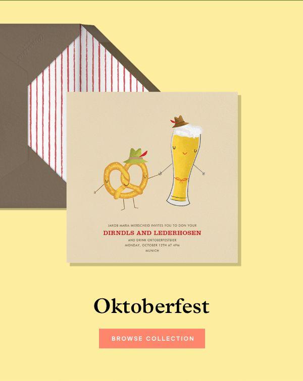 Bier, Bitte! Oktoberfest invitations.