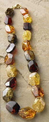 // Faceted Amber Necklace, Necklaces, Jewelry - The Museum Shop of The Art Institute of Chicago