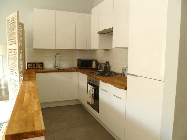 White gloss kitchen small