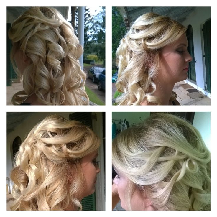 Beautiful curls, half up upstyle with Jade Albany, photo shoot @ Gledswood homestead & Winery with Nick Styles Australia.