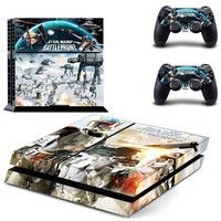 PS4 Skin Sticker for PS4 System Playstation 4 Console with 2 Controller Vinyl Decal Skins--STAR WARS BATTLEFRONT