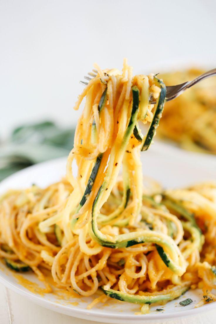 Butternut Squash & Sage Spaghetti with Zucchini Noodles
