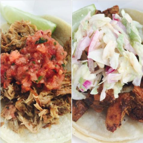Classic carnitas tacos and Jamaican chicken tacos from Rasta Taco Catering. Get a FREE taco catering quote:  #carnitas #tacos #taco #catering #tacocatering #RastaTaco #Jamaicantacos #LAfoodie #LAtacos