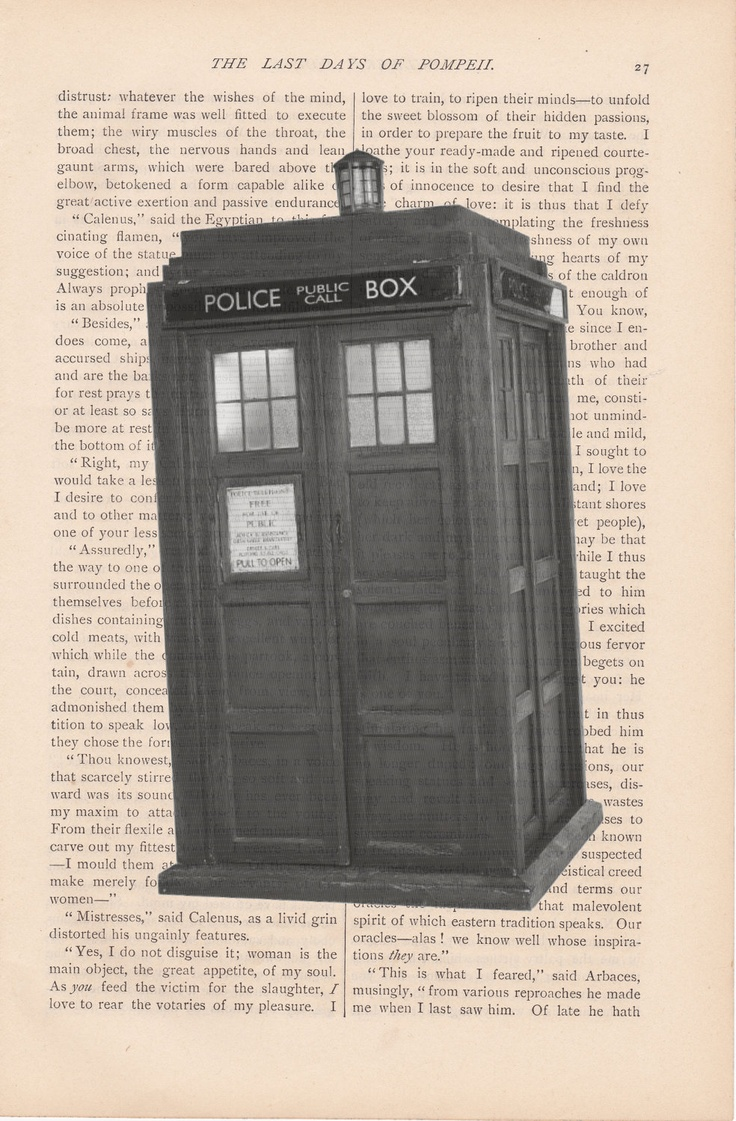 dictionary art vintage DOCTOR WHO TARDIS print - vintage art book page print - dr. who british dictionary art. $9.00, via Etsy.