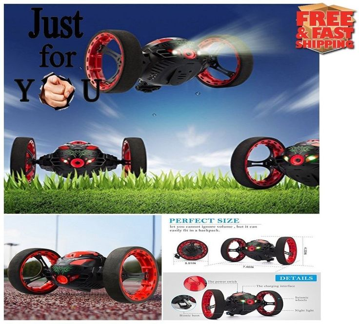 BEST Christmas Gift For Kid Boy Remote Control RC Car Bounce Jumping Smart Stunt #Threeking