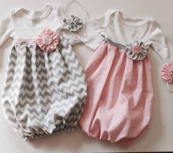 Baby-Mädchen Kleid... mit Stirnband... in von SnuggleBugBabyBoutiq