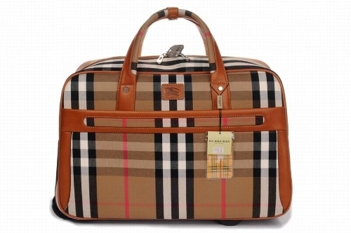 Burberry Check Big Women Suitcase Brown