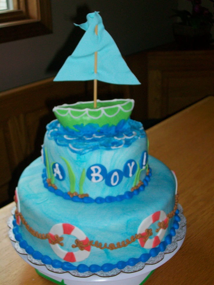 Ahoy it's a boy! baby shower cake   Baby Shower Cakes ...