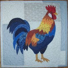 Mini Rooster Applique Quilt