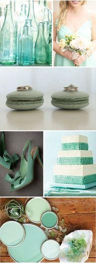 Sea Glass Wedding Theme #celebstylewed