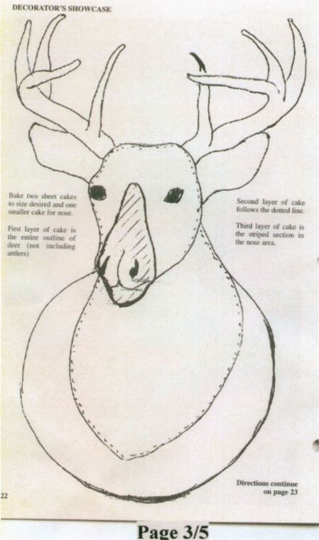how to make deer cakes   ... you make a deer head cake. Thanks to SheriRose for the great info