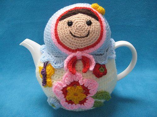 Tea Cosy Matryoshka Babushka Teacosy Cozy pattern by Millionbells