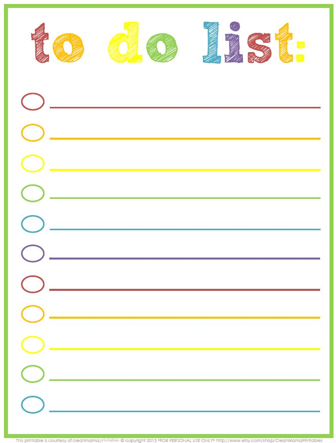 91 best Printable To Do List images on Pinterest